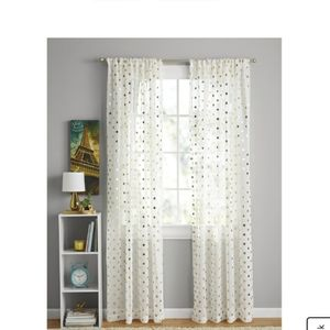 "Polka dot sheet curtain 84"" panel"